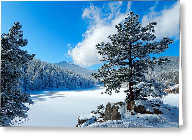 Snow At Beaver Brook Greeting Card
