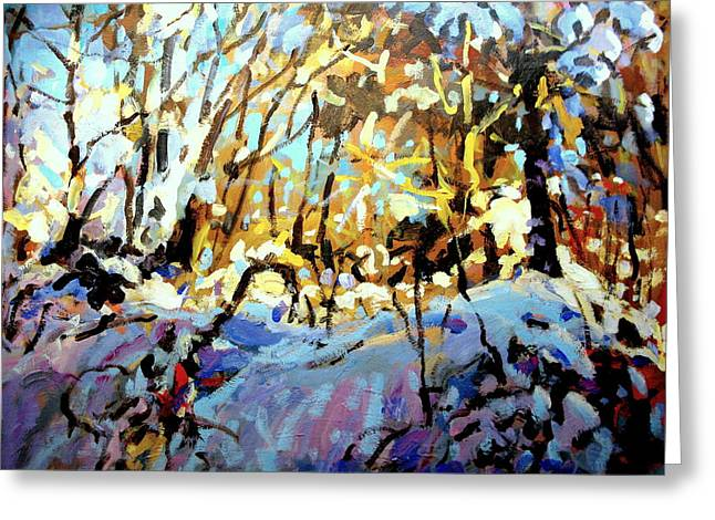 Snow Bank Greeting Card by Brian Simons