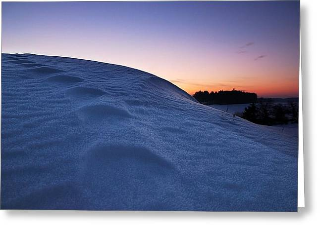 Snow Bank Greeting Card by Hannes Cmarits