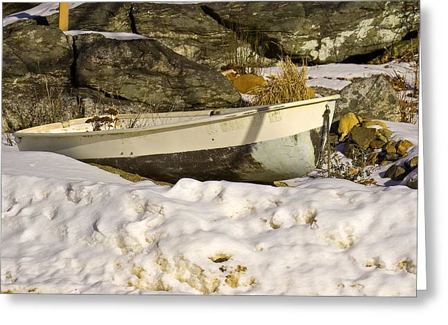 Snow Bound Greeting Card by Gerald Mitchell