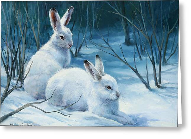 Winter Blues Greeting Card by Laurie Hein