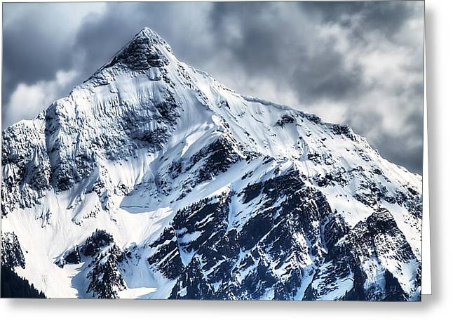 Snow Cap Greeting Card by Naman Imagery