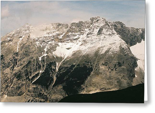 Snow Capped Austrian Summer Greeting Card by Patrick Murphy