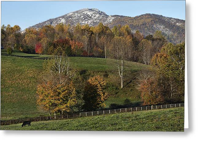Snow Capped Old Rag Mountain - Virginia Greeting Card