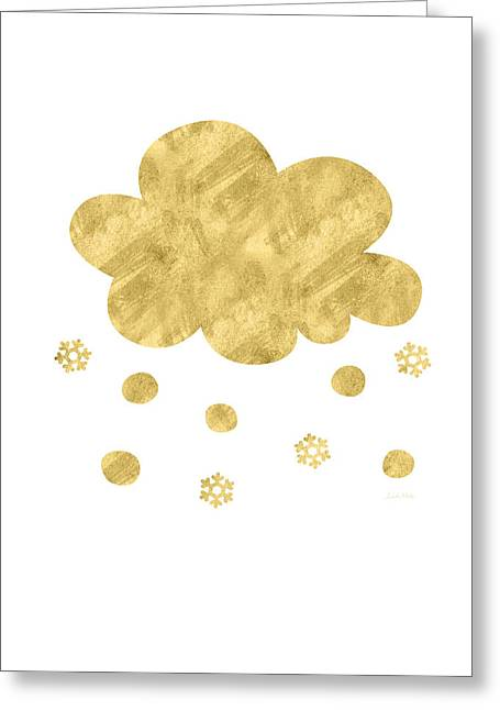 Snow Cloud- Art By Linda Woods Greeting Card by Linda Woods