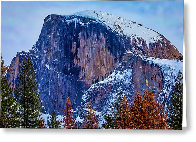 Snow Covered Half Dome Greeting Card by Garry Gay