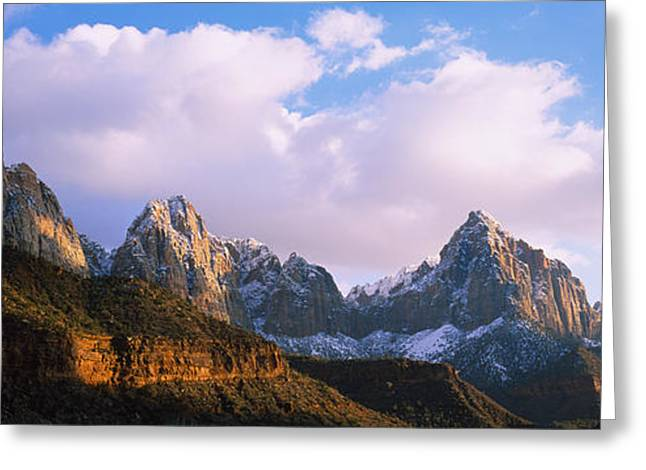 Snow Covered Mountain Range, The Greeting Card by Panoramic Images