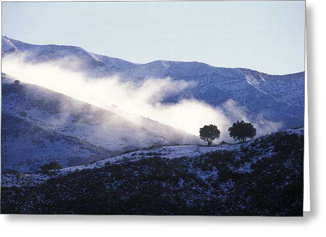 Snow Covered Santa Ynez Mountains Greeting Card by Rich Reid