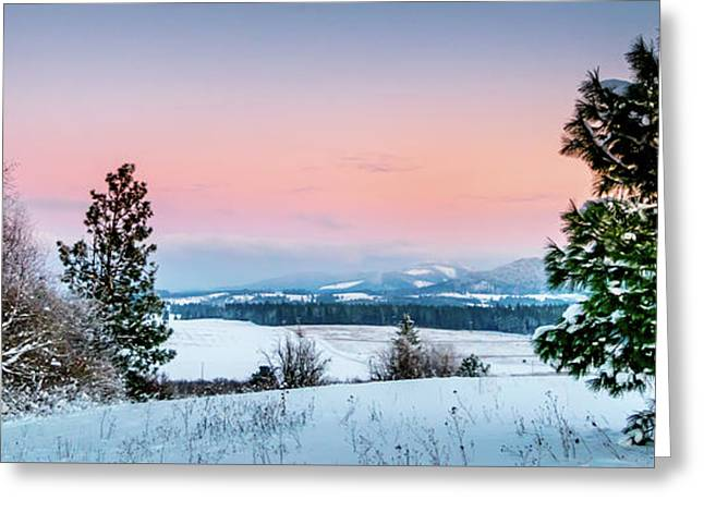 Snow Covered Valley Greeting Card