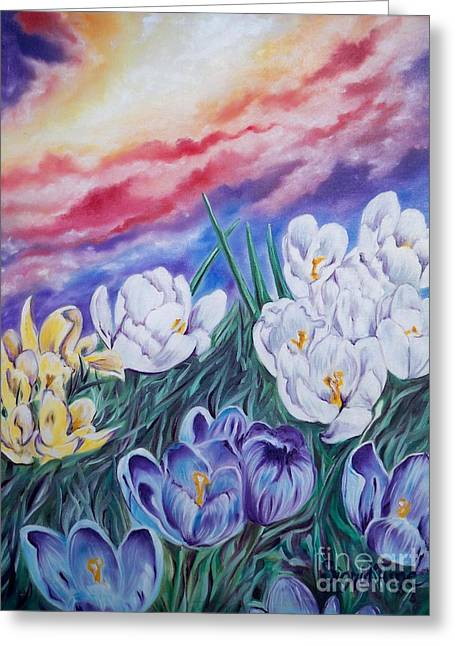 Flygende Lammet Productions      Snow Crocus Greeting Card