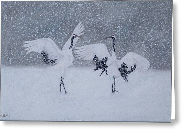 Snow Dancers Greeting Card