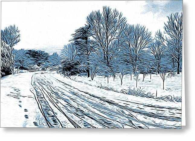 Snow Day Greeting Card by Greg Joens