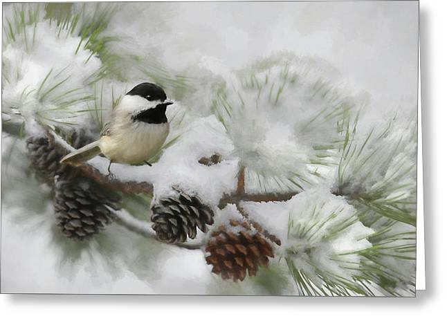 Greeting Card featuring the photograph Snow Day by Lori Deiter
