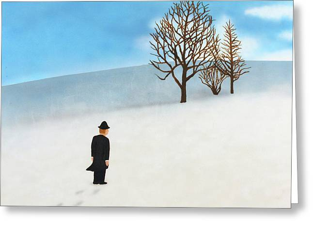 Snow Day Greeting Card by Thomas Blood