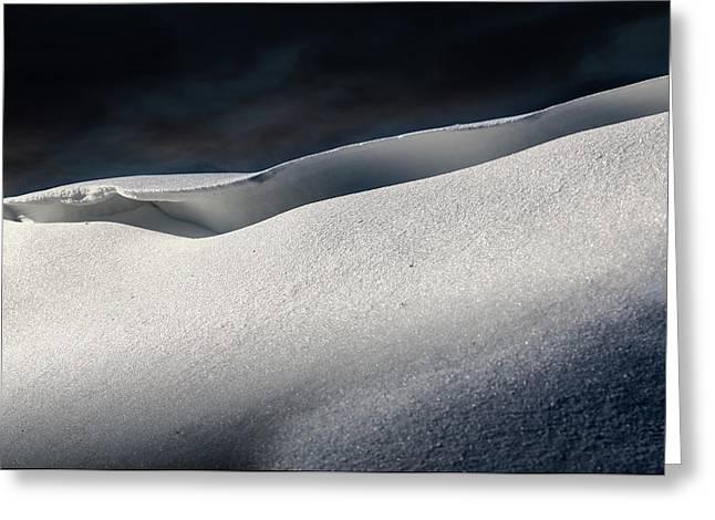 Snow Drift On The Beach Greeting Card