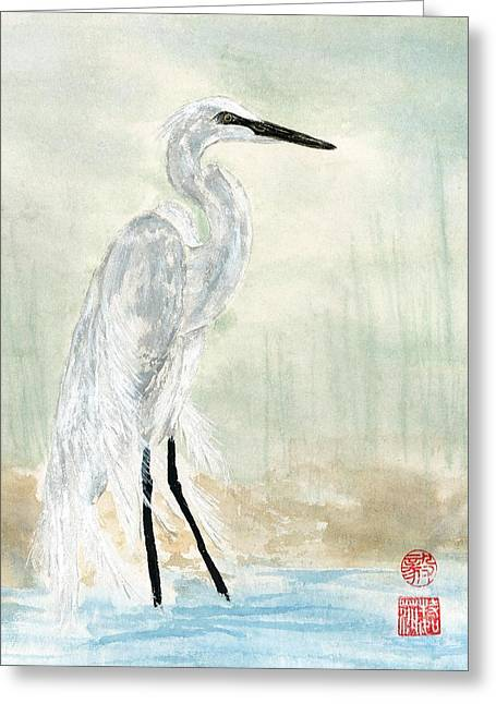 Snow Egret Greeting Card
