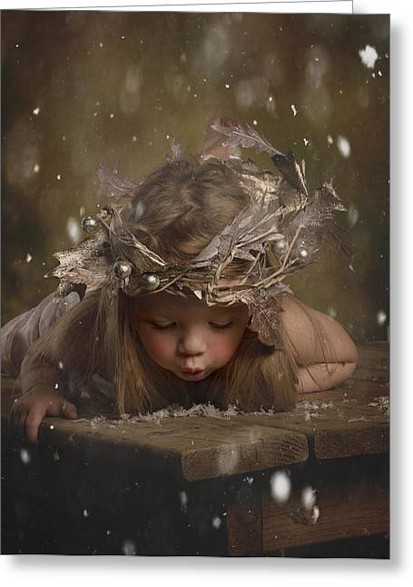 Snow Fairy 2 Greeting Card by Lori Lynn
