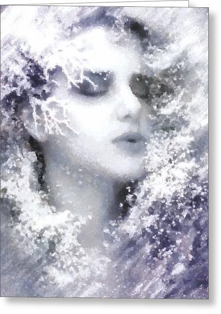 Greeting Card featuring the digital art Snow Fairy  by Gun Legler