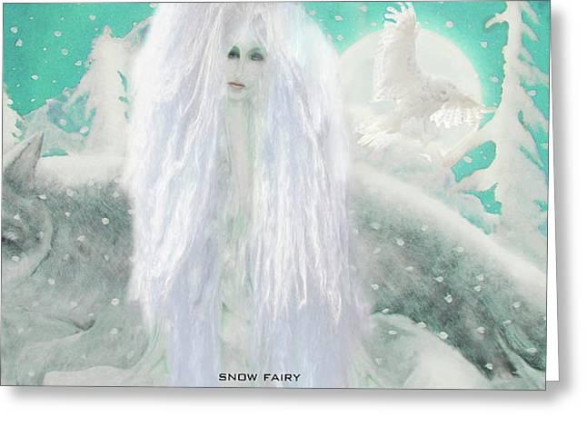 Snow Fairy Greeting Card