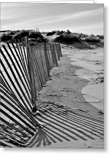 Greeting Card featuring the photograph Snow Fence by SimplyCMB