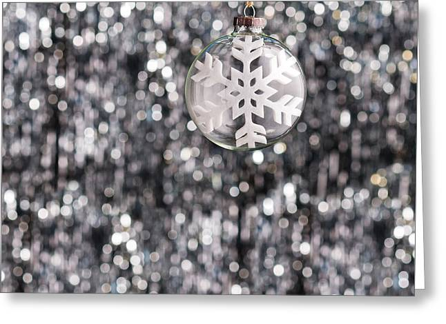 Greeting Card featuring the photograph Snow Flake by Ulrich Schade