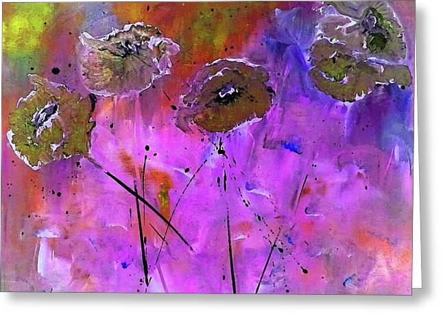Snow Flowers Greeting Card by Lisa Kaiser