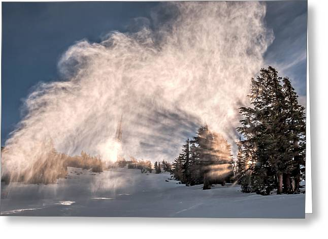 Snow Flume Greeting Card