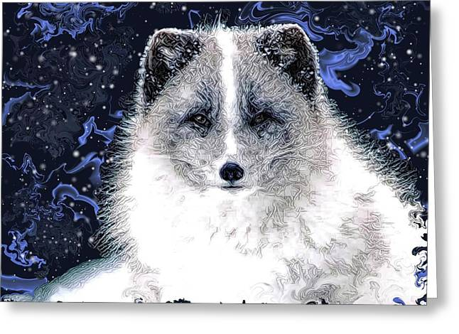 Snow Fox Greeting Card