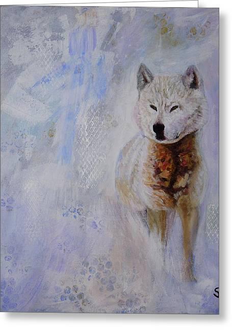 Snow Fox Greeting Card