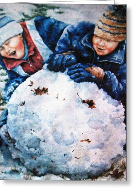 Snow Fun Greeting Card by Hanne Lore Koehler