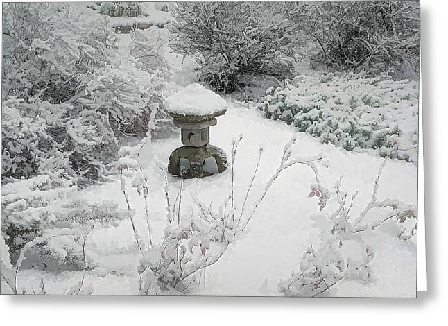 Snow Garden II Greeting Card by Frank Maxwell