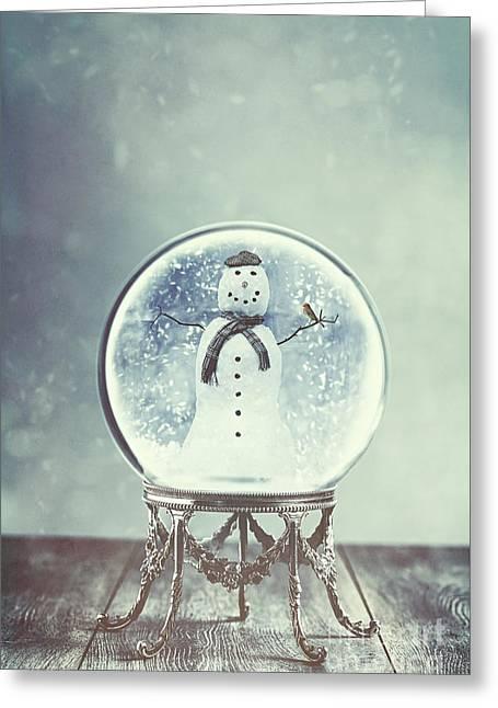 Snow Globe Greeting Card by Amanda Elwell