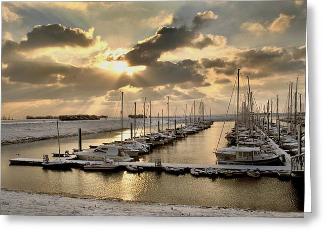Snow Harbour Greeting Card
