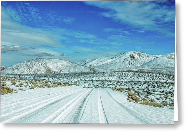 Snow In Death Valley Greeting Card by Peter Tellone