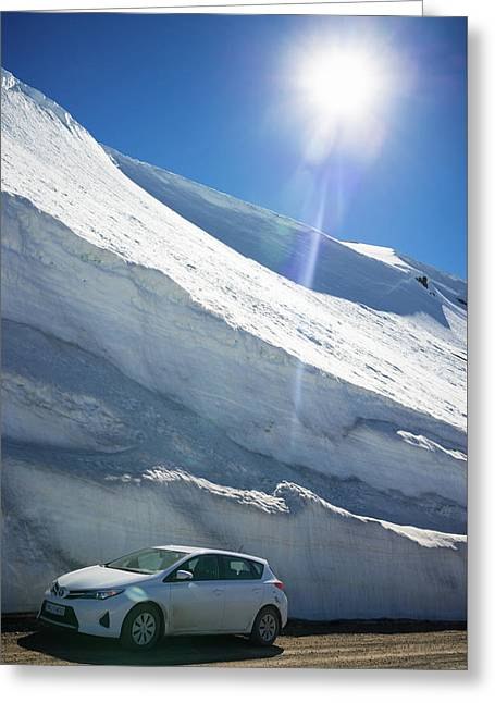 Snow In Iceland In June Greeting Card by Matthias Hauser