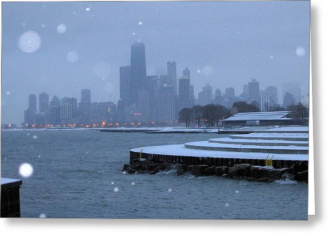 Snowy Chicago Greeting Card