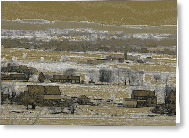 Greeting Card featuring the photograph Snow In The Valley by Vilas Malankar