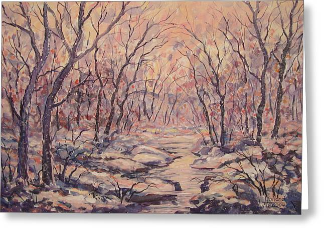 Snow In The Woods. Greeting Card
