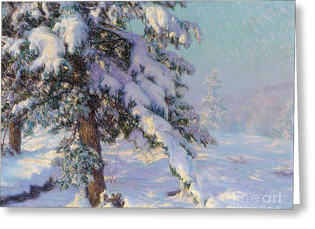 Snow-laden Greeting Card by Walter Launt Palmer