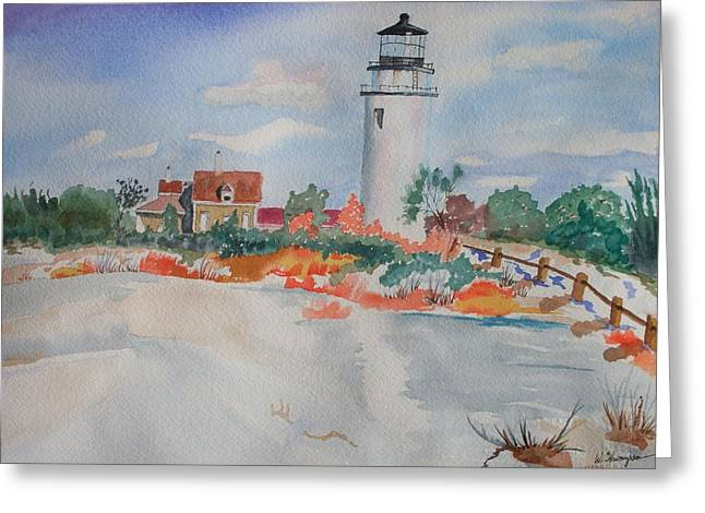 Snow Light At Cape Cod Greeting Card by Warren Thompson