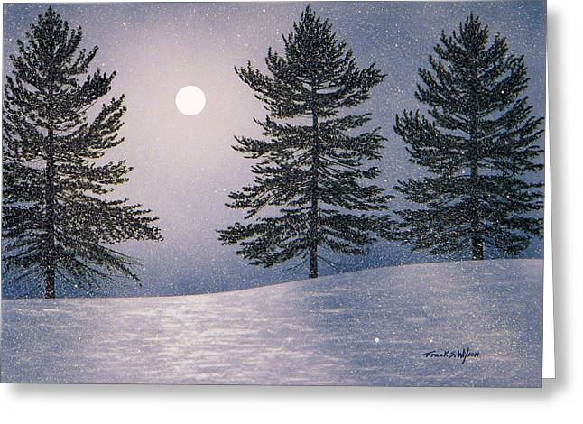 Snow Light Greeting Card by Frank Wilson