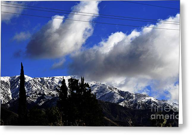Snow Line In Socal Greeting Card by Clayton Bruster