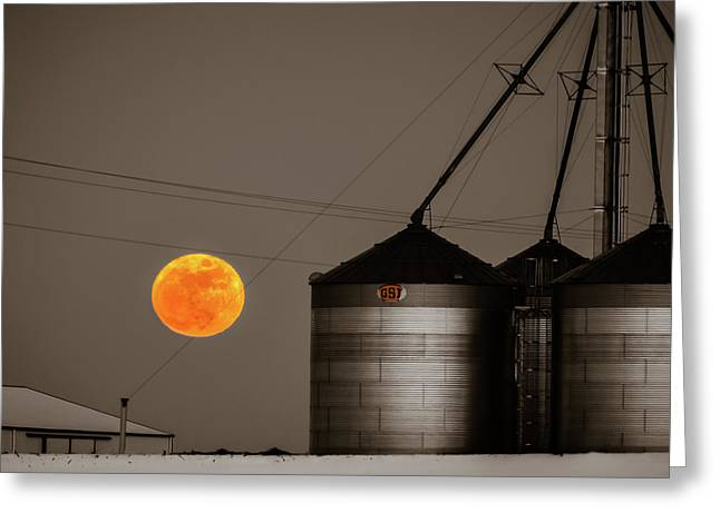 Snow Moon Rising Greeting Card