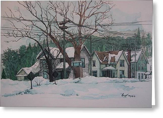 Snow Next Door Greeting Card by Richard Ong