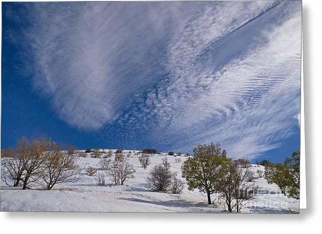 Snow On Mount Hermon 02 Greeting Card