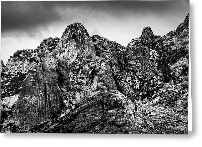 Greeting Card featuring the photograph Snow On Peaks 46 by Mark Myhaver