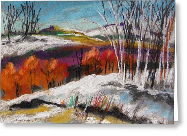 Snow On The Hills Greeting Card by John Williams
