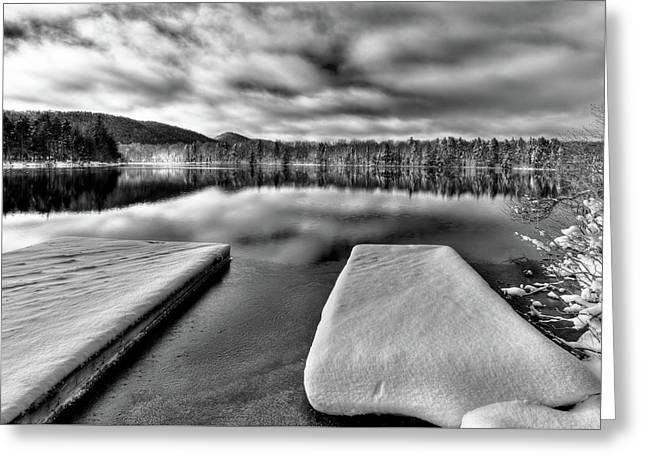 Snow On West Lake Greeting Card
