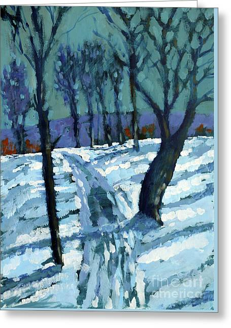 Snow Greeting Card by Paul Powis