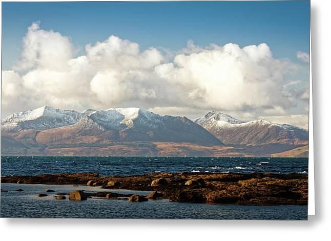Snow Peaks Isle Of Arran Greeting Card